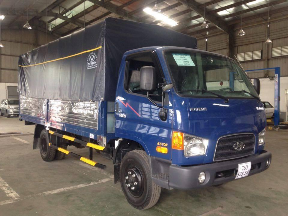 Bán ô tô Hyundai HD 120SL 8.1 tấn, thùng 6.3m 2017, màu xanh lam, nhập khẩu