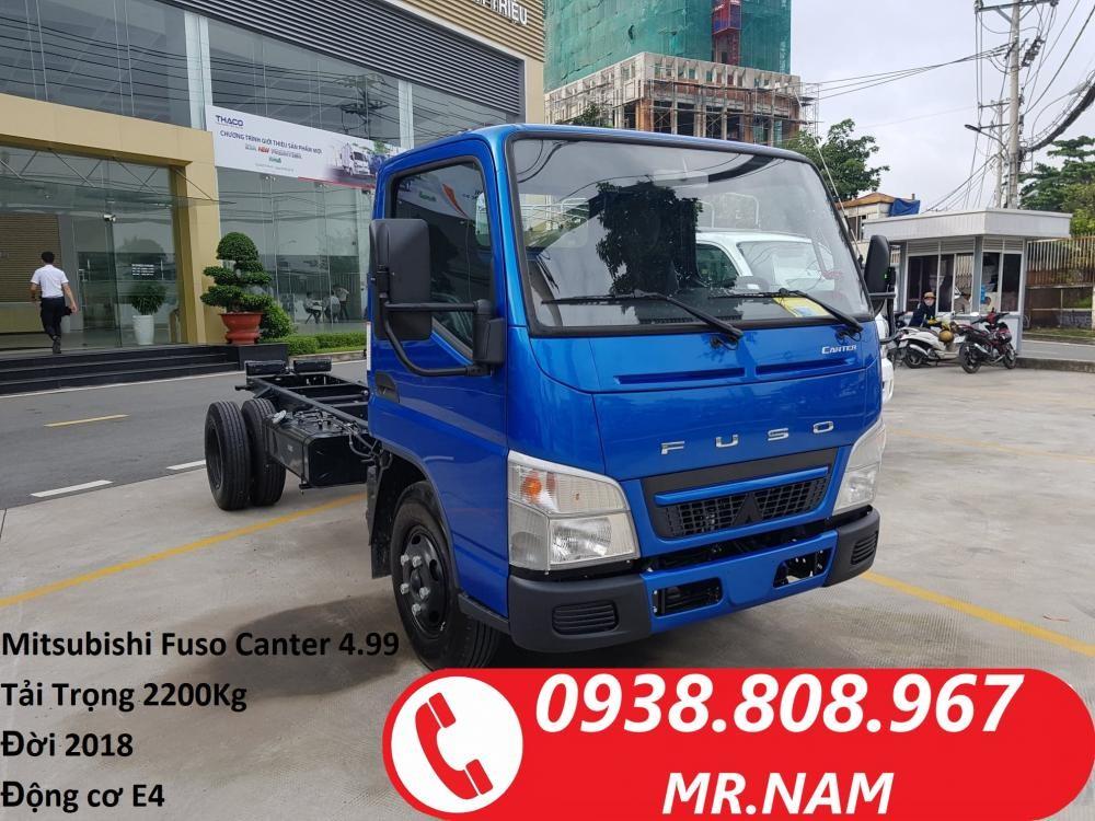 Bán xe tải Nhật Bản 2 tấn 2 Mitsubishi Fuso Canter 4.99 đời 2018, máy E4. Liên hệ 0938808967