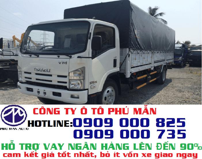Xe tải Isuzu 8.2 tấn, có kích thước thùng dài rộng