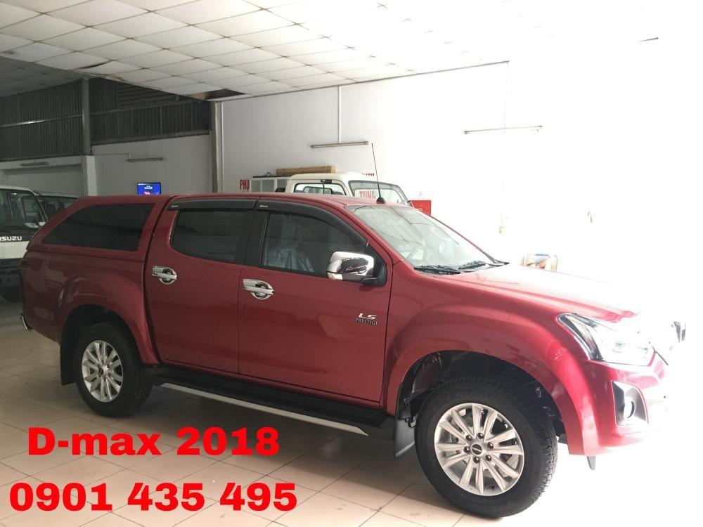 Isuzu Dmax LS sản xuất 2018, màu đỏ, nhập khẩu nguyên chiếc, KM nắp thùng