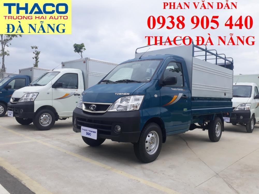 Xe tải Thaco 990kg thùng mui bạt vào TP ĐN. Hỗ trợ trả góp nhanh gọn
