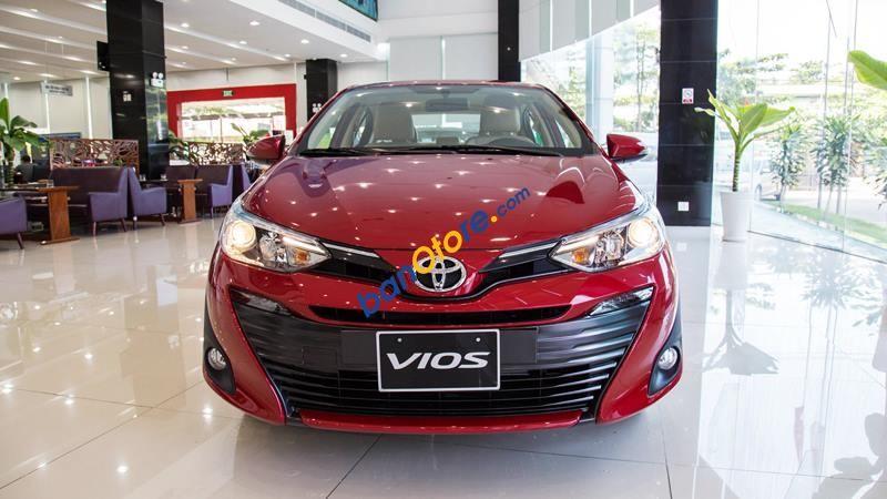 Bán Toyota Vios 1.5E MT năm sản xuất 2019, màu đỏ