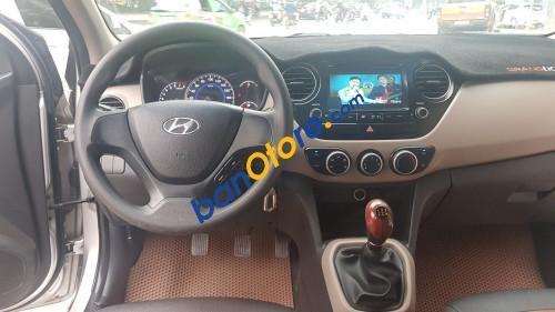 Bán xe Hyundai Grand i10 1.0 MT năm sản xuất 2017, màu bạc