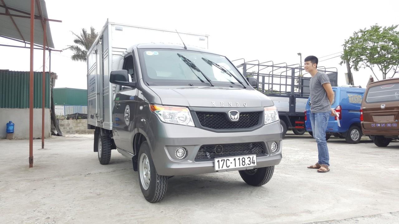 Bán xe tải Kenbo 990 Kg mui bạt, màu đỏ, giá chỉ 187 triệu