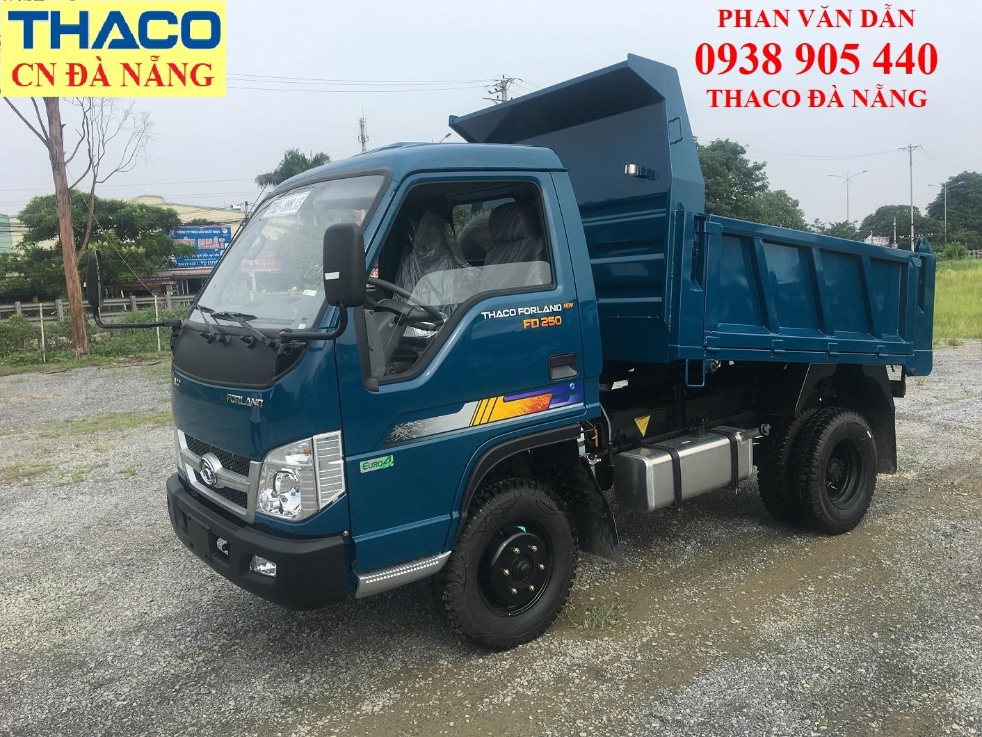 Cần bán xe ben Thaco thùng 2 khối tải trọng 2.49 tấn vào phố, hỗ trợ trả góp lên đến 70% giá trị xe