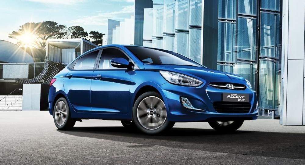 Thiết kế ngoại thất Hyundai Accent Blue
