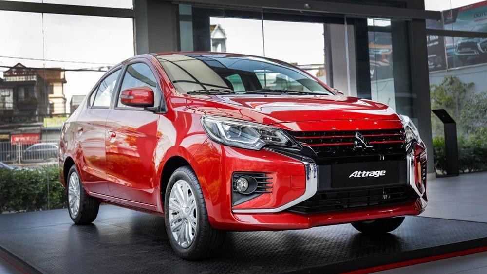 Cần bán Mitsubishi Attrage GLS sản xuất 2021, màu đỏ, nhập khẩu nguyên chiếc