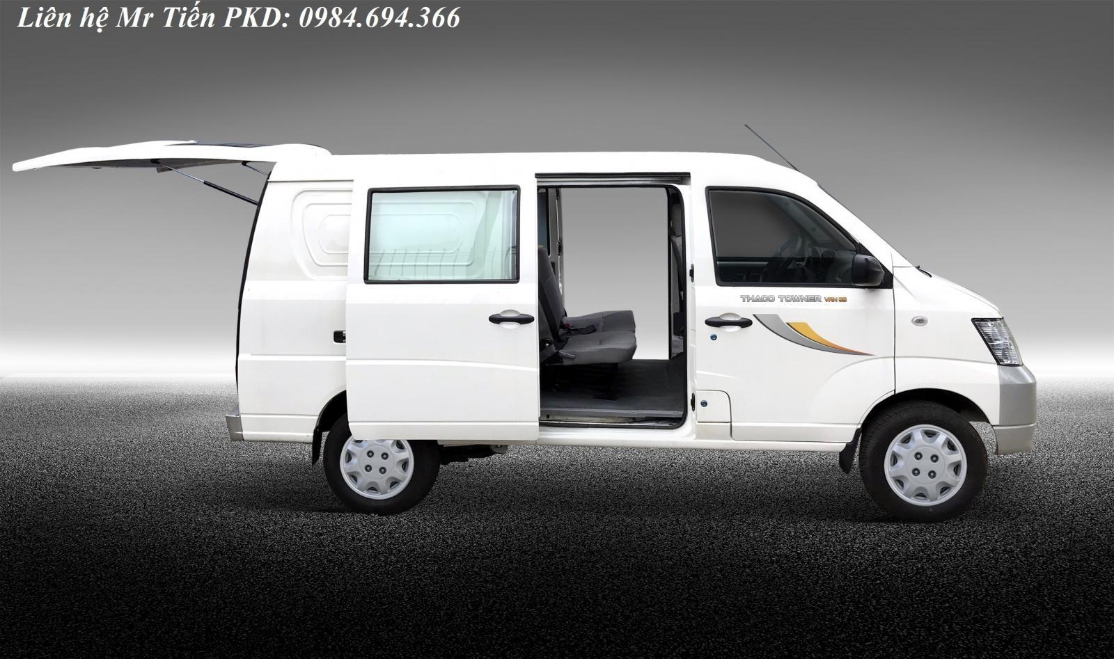 Bán xe tải Van 2 chỗ, 5 chỗ Thaco Towner Van tải 490 nâng tải 750 và 945 kg vào phố