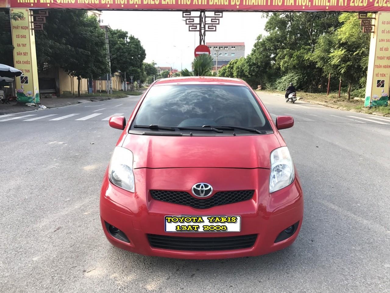 Bán xe Toyota Yaris 1.3AT 2008, màu đỏ, nhập khẩu nguyên chiếc giá cạnh tranh