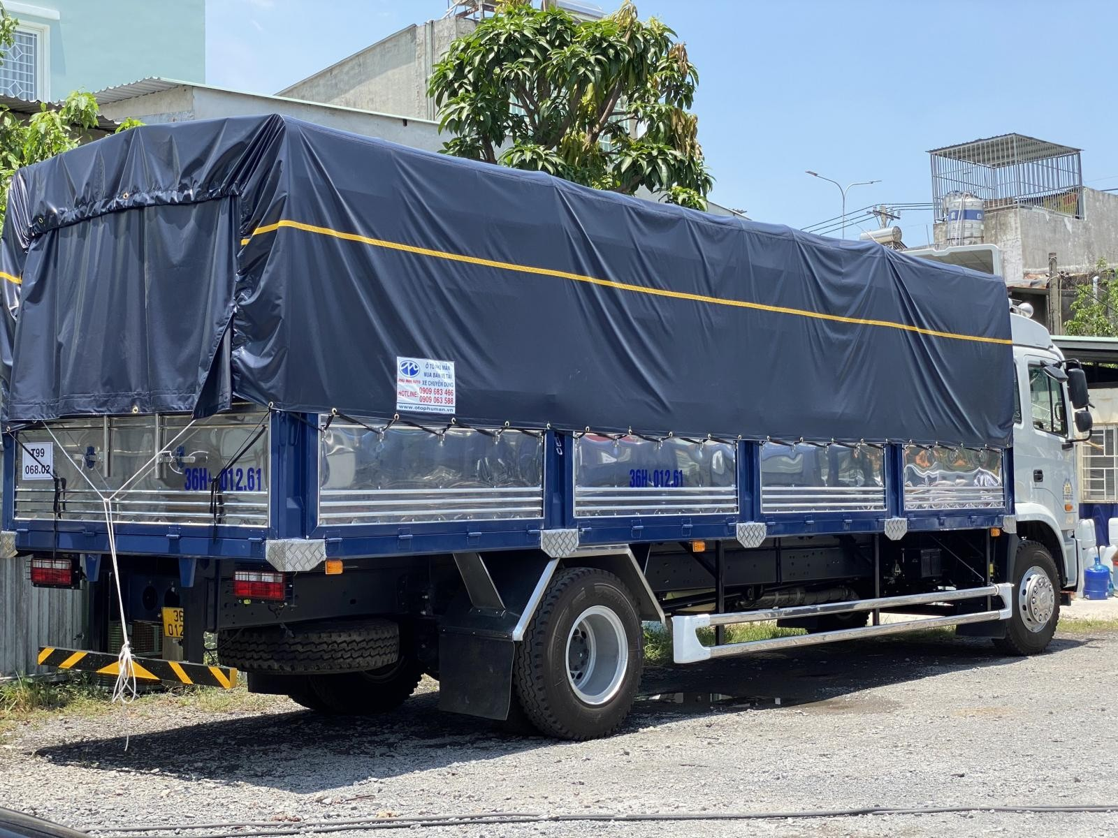 Giá xe tải JAC A5 thùng bạt dài 8m3 mới 2021