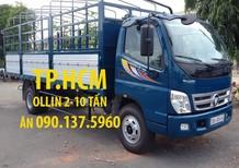 TPHCM Thaco Ollin 700B 2017, màu xanh, nhập khẩu nguyên chiếc, thùng kín tôn đen