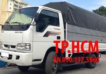 TP. HCM Thaco Kia K165S phiên bản mới thùng mui bạt inox430, màu bạc, giá tốt