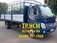 TP. HCM Thaco Ollin 700B 2017, màu xanh, nhập khẩu nguyên chiếc, thùng kín inox430