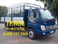 TP.HCM Thaco Ollin 700C mẫu mới, thùng kín inox430, màu xanh