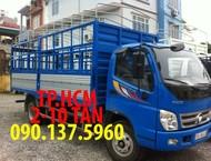 TP.HCM Thaco OLLIN 700B PHIÊN BẢN MỚI THÙNG MUI BẠT TÔN ĐEN, màu xám
