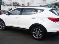 Bán ô tô Hyundai Santa Fe đời 2016, màu trắng xe có sẵn giao ngay