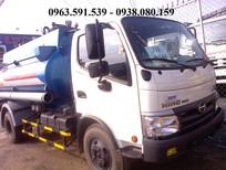 Bán xe bồn Hino 6 khối chở xăng dầu giá rẻ nhất, xe bồn chở xăng dầu Hino 6 khối
