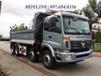 Xe Ben 4 chân Thaco Auman, xe tải ben 4 chân tải trọng 18 tấn nhập khẩu nguyên chiếc