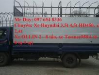 Xe tải Hyundai 6.4 tấn, xe tải 6.4 tấn Hyundai HD650 mới thùng mui bạt/ thùng kín