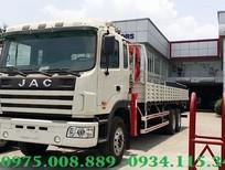 Xe tải JAC 3 chân 12 tấn, 11 tấn gắn cẩu unic 5 tấn 3 khúc, xe mới trả góp