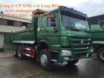Xe ben 3 chân Howo 336, 371 tải trọng 12-13 tấn thùng 10m3 tại Hà Nội 2015, 2016