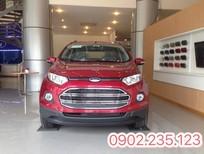 Bán xe Ford EcoSport 1.5 Titanium AT mới tại Phú Thọ, màu đỏ, giá cực sốc hỗ trợ đăng ký