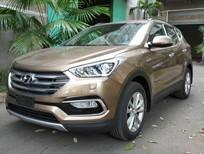 Hyundai Đà Nẵng cần bán xe Hyundai Santa Fe đời 2017, màu nâu. LH Lâm Học TPKD 0905.030.999