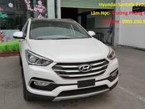 Bán Hyundai Santa Fe 4WD đời 2017, màu trắng
