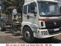 Xe 3 chân Thaco Auman C1500 230Ps cầu nâng hạ, tải trọng 14,8 tấn thùng dài 7.8M, đời 2016