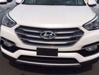 Cần bán Hyundai Santa Fe 2.4AT 4WD 2016, màu trắng giá rẻ nhất HCM