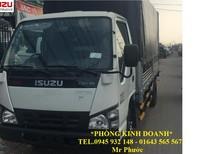 xe tải ISUZU 1.9 tấn thùng mui bạt 2016, xe ISUZU QKR 1T99 tặng trước bạ