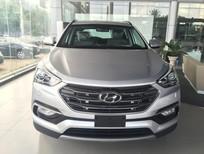 Bán Hyundai Santa Fe CRDI 2017, màu bạc, máy dầu mới 100%