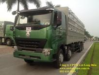 Xe tải thùng 4 chân Howo 375, A7 tải trọng 17,9 tấn 2019