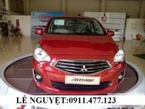 Bán ô tô Mitsubishi Attrage mới 2017, màu đỏ, nhập khẩu giá cạnh tranh - Lh 0911.477.123