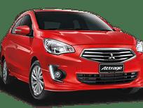Bán xe Mitsubishi Attrage mới 2017, màu đỏ, xe nhập, giá rẻ, Lh: Đông Anh 0931911444