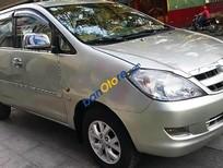 Cần bán xe cũ Toyota Innova 2.0G đời 2006, màu bạc số sàn, 445tr