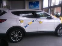 Bán ô tô Hyundai Santa Fe 2017, màu trắng, ưu đãi hấp dẫn