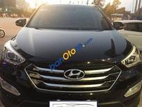 Xe Hyundai Santa Fe 2.4AT đời 2015, màu đen số tự động