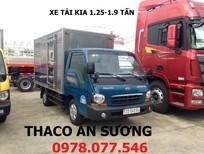 Xe tải Thaco Kia K165 mui bạt tải trọng 2 tấn 4 giao ngay,