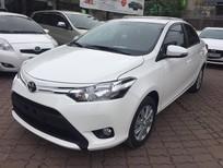 Toyota Giải Phóng bán ô tô Toyota Vios 2017, màu trắng, giao xe ngay hỗ trợ trả góp 90%