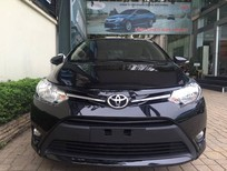 Toyota Giải Phóng bán ô tô Toyota Vios 2017, màu đen, giao xe ngay hỗ trợ trả góp 90%
