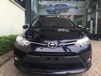 Toyota Giải Phóng bán ô tô Toyota Vios E 1.5MT 2017, màu đen, giao xe ngay hỗ trợ trả góp 90%