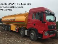Xe bồn, xe xi téc chở xăng dầu 5 chân 25-26m3 Hyundai, Daewoo, Howo, Dongfeng 2016, 2018