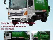 Xe cuốn ép rác Hino FC9JESW 3,6-4 tấn 8-9m3 – 2017, 2018