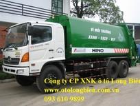 Xe cuốn ép rác Hino 3 chân 10-11 tấn 20-22m3 – 2017, 2018