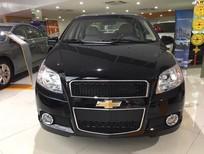Bán xe Chevrolet Aveo LTZ 2017, màu đen, KM 30tr, hỗ trợ vay nhanh chóng, lãi suất hấp dẫn