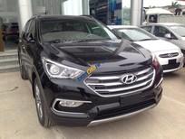 Cần bán Hyundai Santa Fe năm 2017, màu đen, 898 triệu