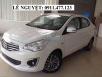 Bán xe Mitsubishi Attrage màu trắng, nhập khẩu,375 triệu, Liên hệ: Lê Nguyệt: 0911.477.123