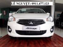 Bán xe Mitsubishi Attrage 2019, màu trắng, xe nhập, giá cực rẻ, siêu tiết kiệm nhiên liệu