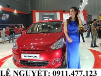 Cần bán xe Mitsubishi Mirage tại Đà Nẵng, màu trắng, nhập khẩu nguyên chiếc, giá 403tr